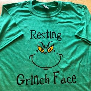 Resting Grinch Face Tee Christmas